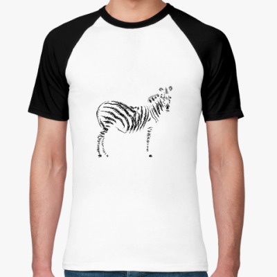 Футболка реглан  зебра