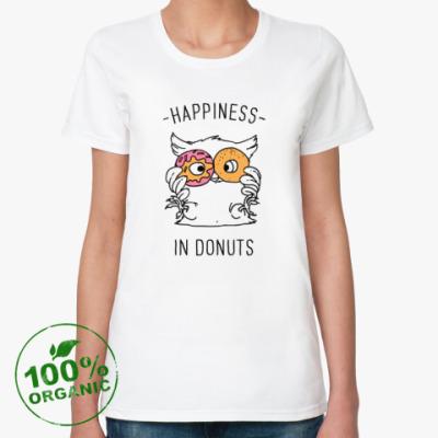 Женская футболка из органик-хлопка Owl Donuts