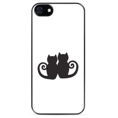 Чехол для iPhone кошачьи посиделки