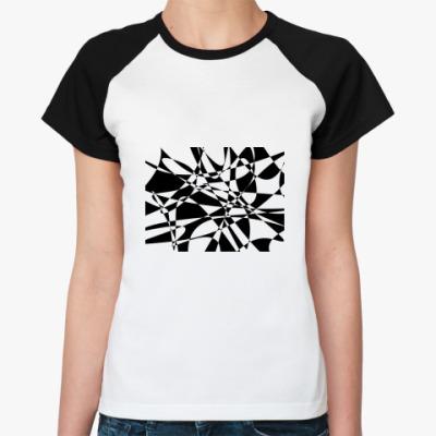 Женская футболка реглан Микс
