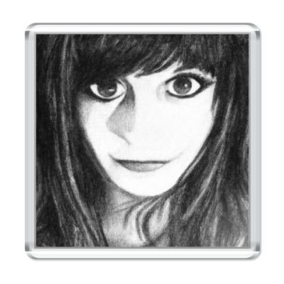 Магнит  Girl with Big Eyes
