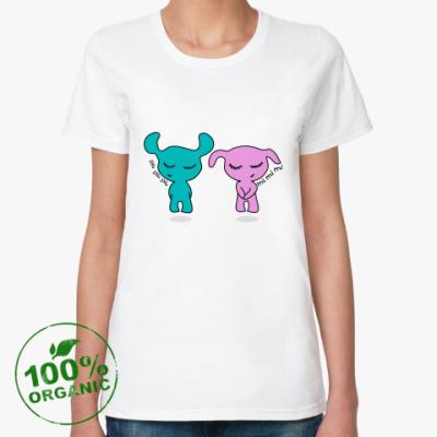 Женская футболка из органик-хлопка Влюбленная пара