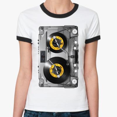 Женская футболка Ringer-T Меломан
