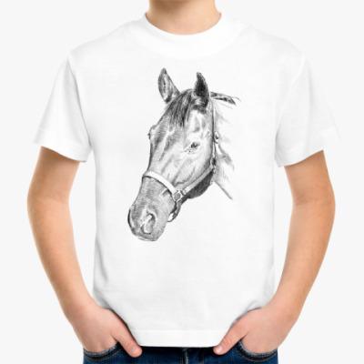 Детская футболка Конь