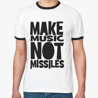 Футболка Ringer-T Make music not missiles
