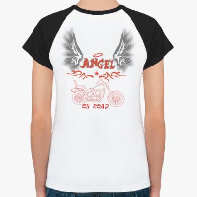 Женская футболка реглан 'Angel'