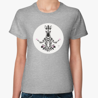 Женская футболка Animal Zen: Z i for Zebra