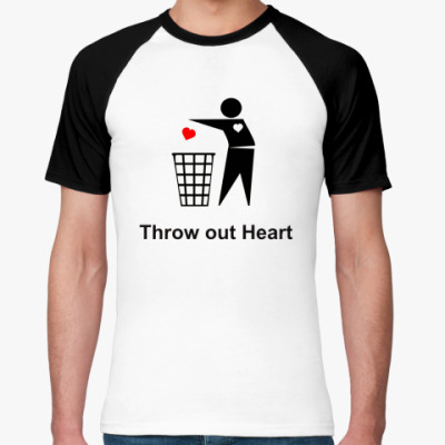 Футболка реглан Throw out Heart