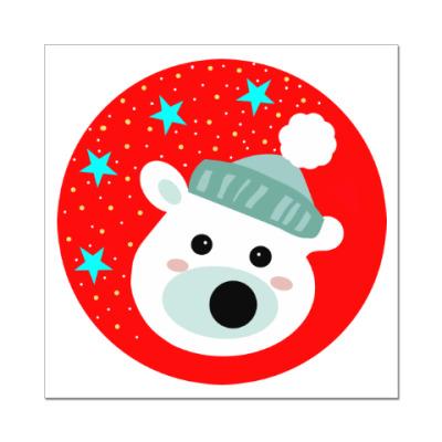 Наклейка (стикер) Полярный медведь