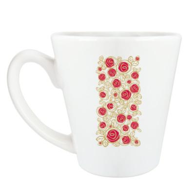 Чашка Латте розочки