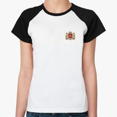 Женская футболка реглан Герб Грузии