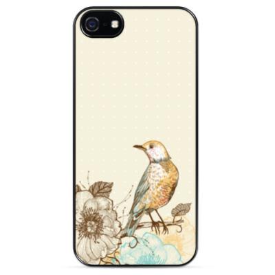 Чехол для iPhone Птичка на ветке