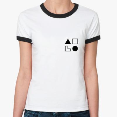 Женская футболка Ringer-T  ИЛЭ (Дон Кихот)
