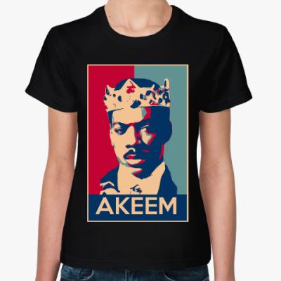 Женская футболка Принц Аким (Поездка в Америку)