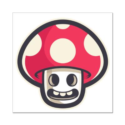 Наклейка (стикер) Гриб Марио