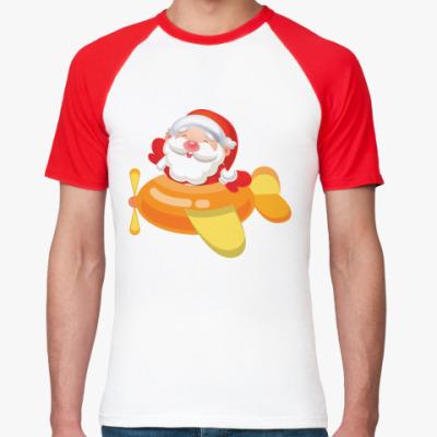 Футболка реглан Дед Мороз к нам мчится
