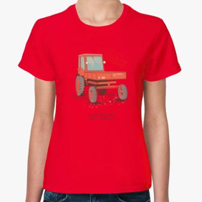 Женская футболка Трактор Т16 (Шассик)