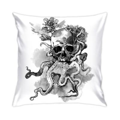 Подушка Череп-кальмар