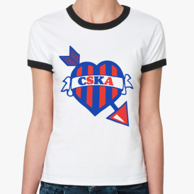 Женская футболка Ringer-T ЦСКА