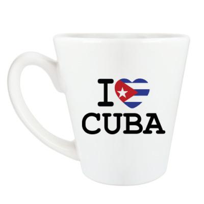 Чашка Латте I Love Cuba