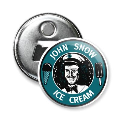 Магнит-открывашка Джон Сноу - Мороженое