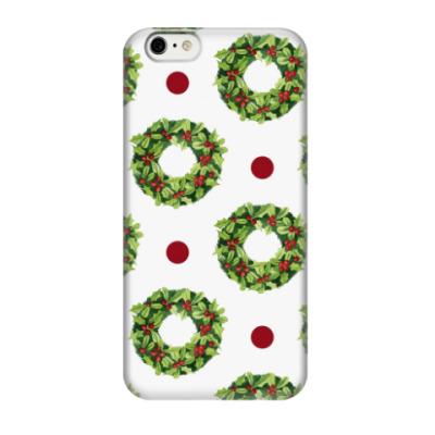 Чехол для iPhone 6/6s Новогодние венки