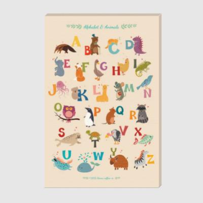 Холст Alphabet & Animals