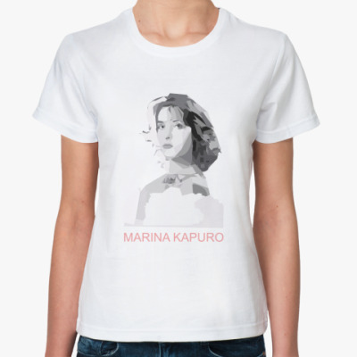 Классическая футболка Marina Kapuro