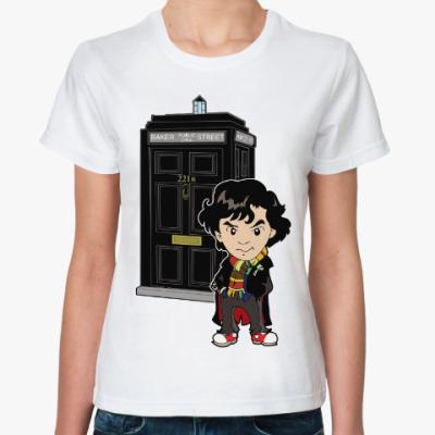 Классическая футболка Шерлок (Доктор Кто)