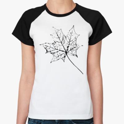 Женская футболка реглан Клен