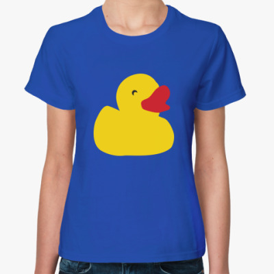 Женская футболка Жёлтая утка