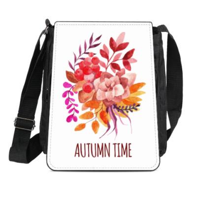 Сумка-планшет Осенний букет акварель