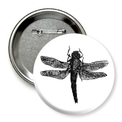Значок 75мм Dragonfly