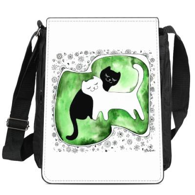 Сумка-планшет 'Коты Инь и Янь'