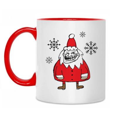 Кружка Trollface Santa