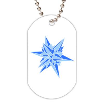Жетон dog-tag Звезда кристалл