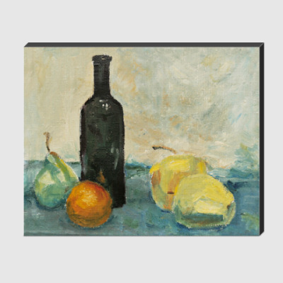 Холст Натюрморт с бутылкой, эскиз