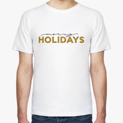 Футболка Merry holidays