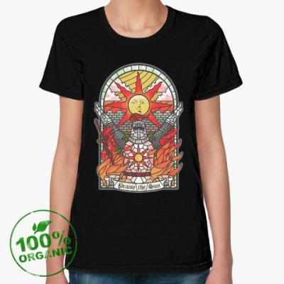 Женская футболка из органик-хлопка Dark Souls Praise the sun