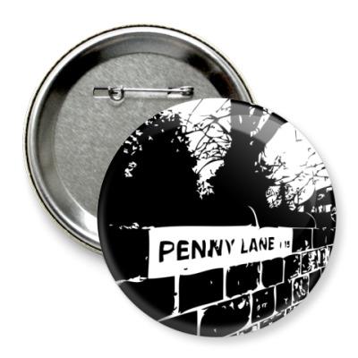 Значок 75мм  The Beatles -Penny Lane