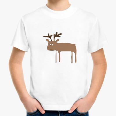 Детская футболка Грустный лось