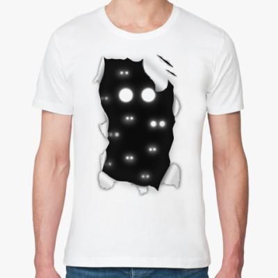Футболка из органик-хлопка  'Глаза в темноте'