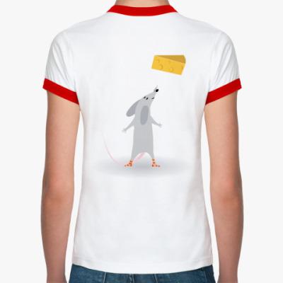Женская футболка Ringer-T   MouseKiller