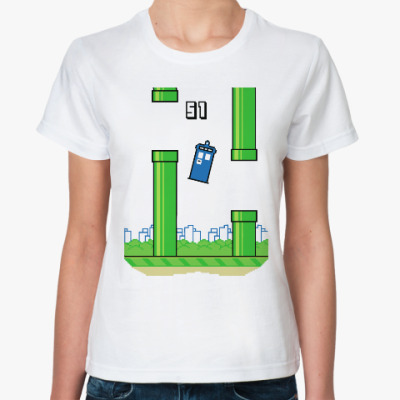 Классическая футболка Тардис (Доктор Кто)