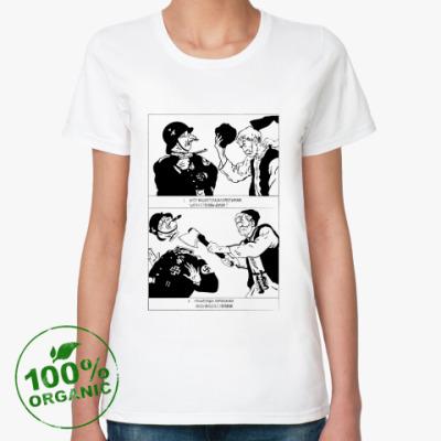 Женская футболка из органик-хлопка Партизан