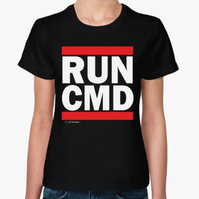 Женская футболка Командная Строка