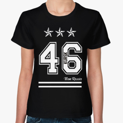 Женская футболка Курск