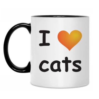 Кружка I love cats