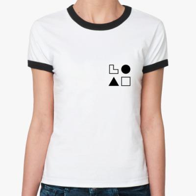 Женская футболка Ringer-T  ЭСИ (Драйзер)