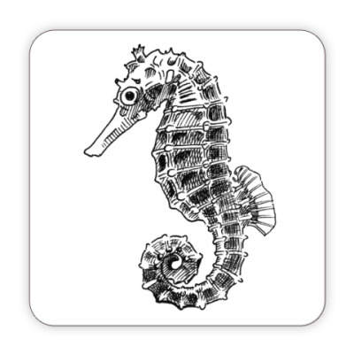 Костер (подставка под кружку) Морской Конек